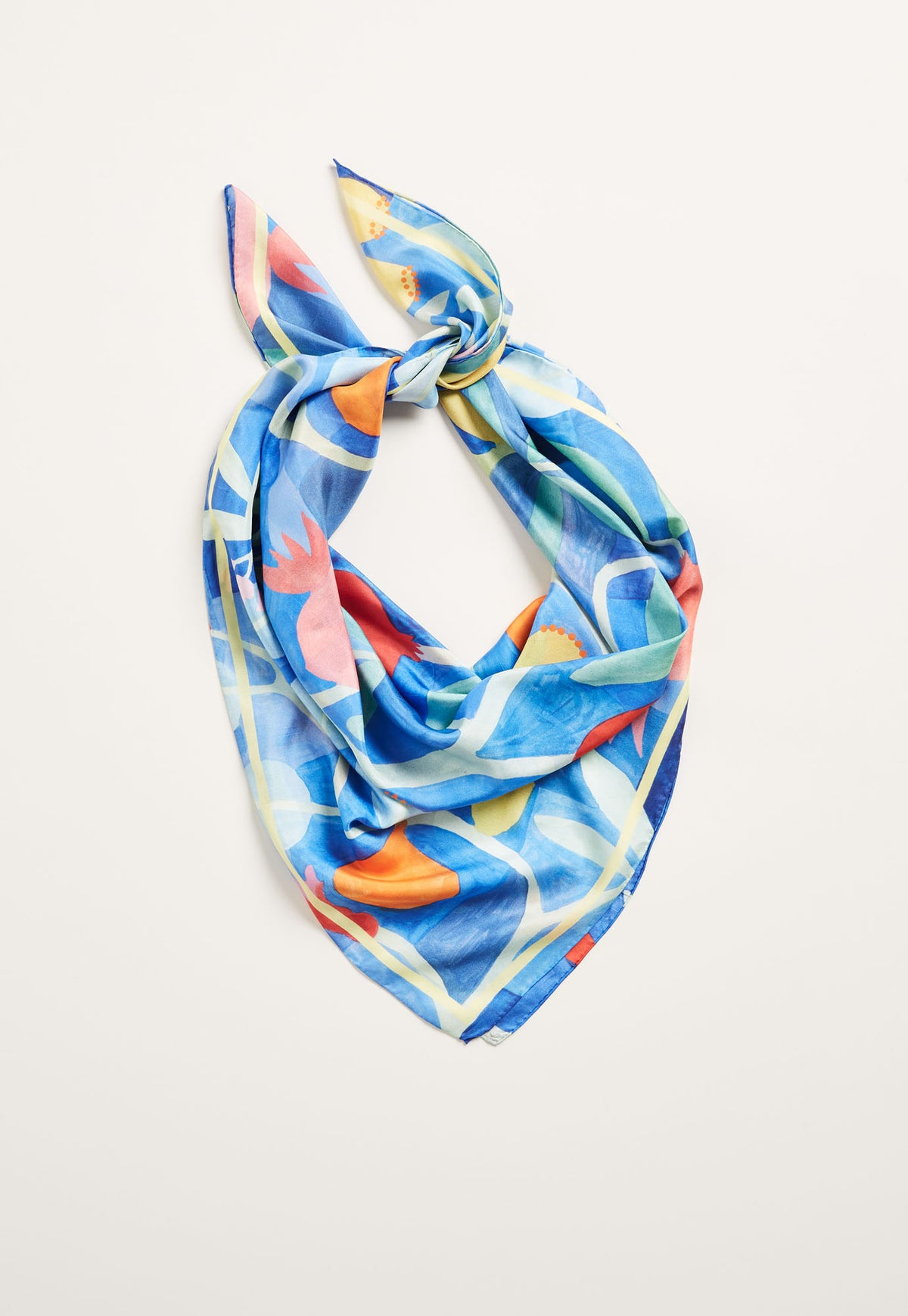 Silk Square Scarf - Pomegranate