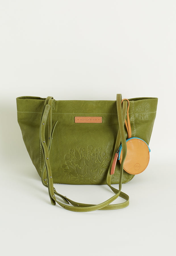 Basket Tote - Moss Green