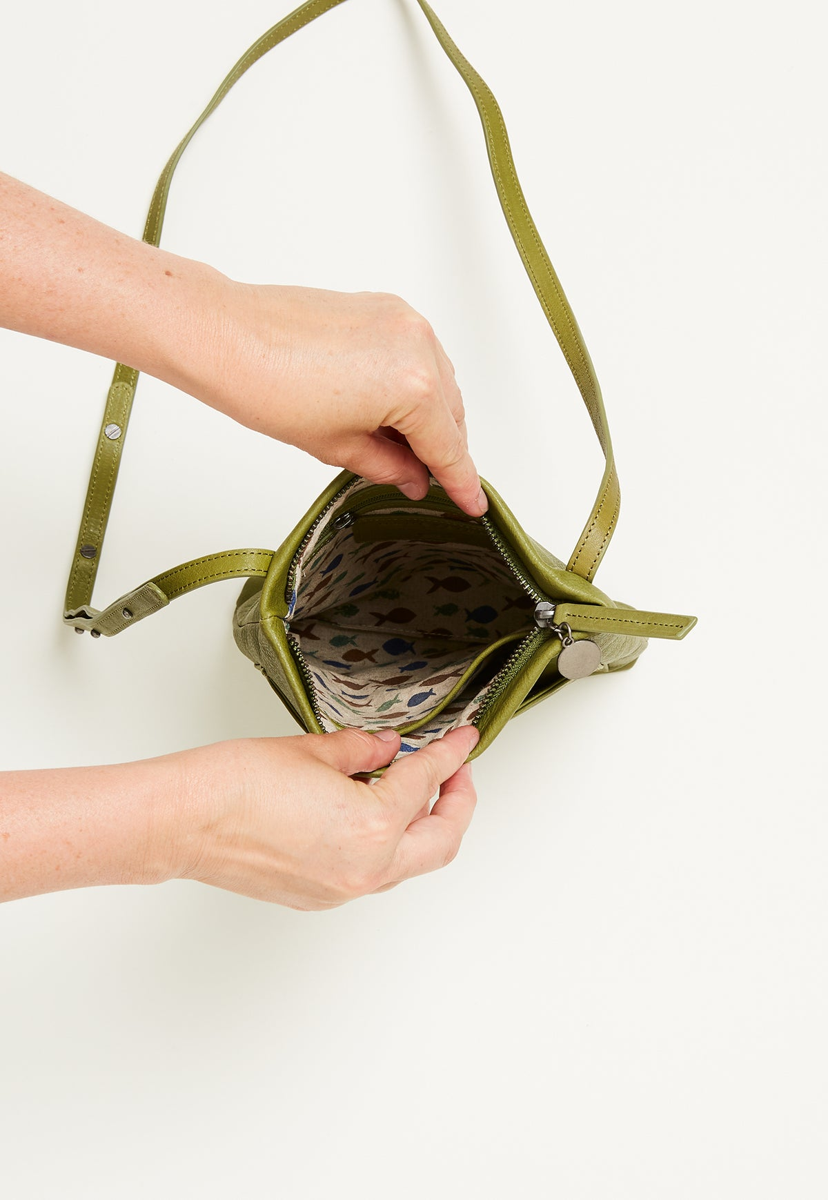 Pocket Crossbody - Moss Green