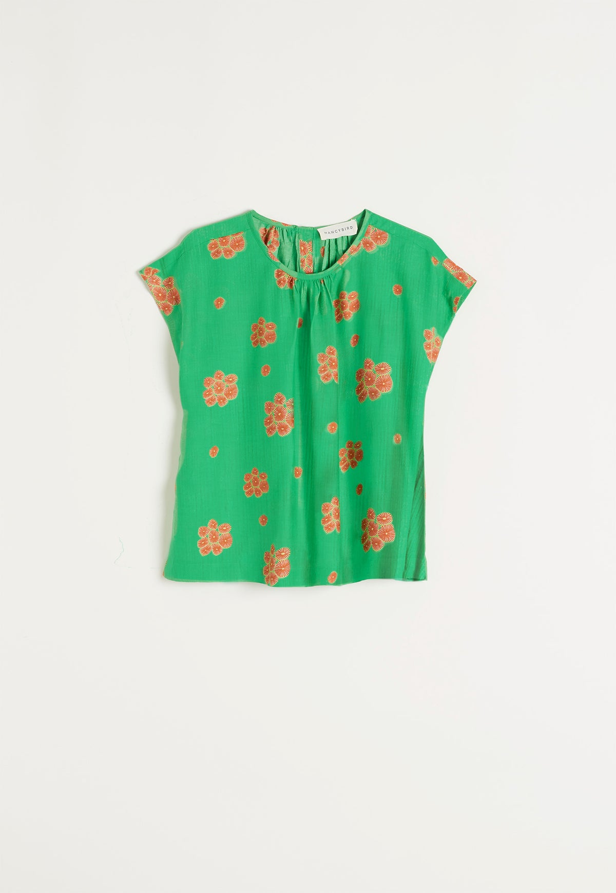 Tea Tree Top - Posy Coral Green