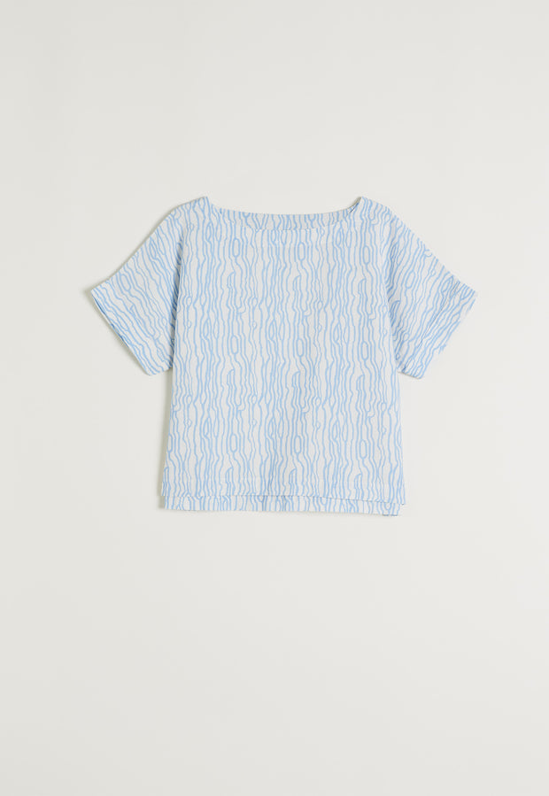 Dolman Top - Waves Blue