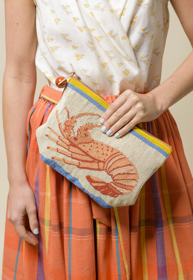 Beaded Clutch - Lobster