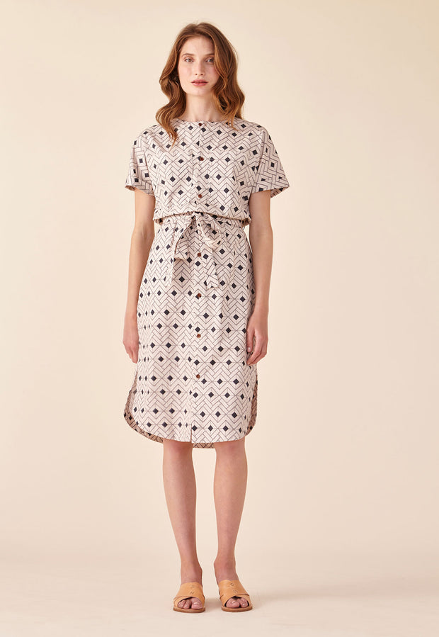Shirt Dress - Tile