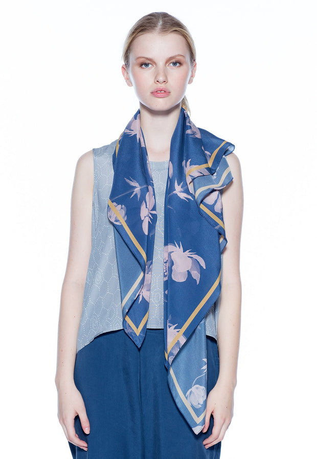 Silk Crepe Scarf - Rose