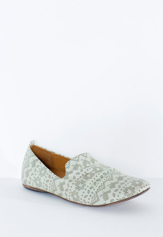 Sky Loafers - Mint Printed