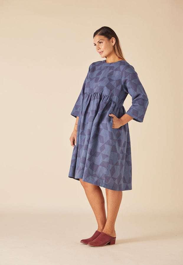 Tidal Dress - Denim Medina