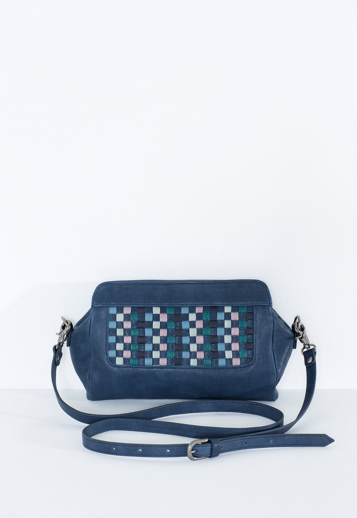 Woven Clutch - Midnight Blue