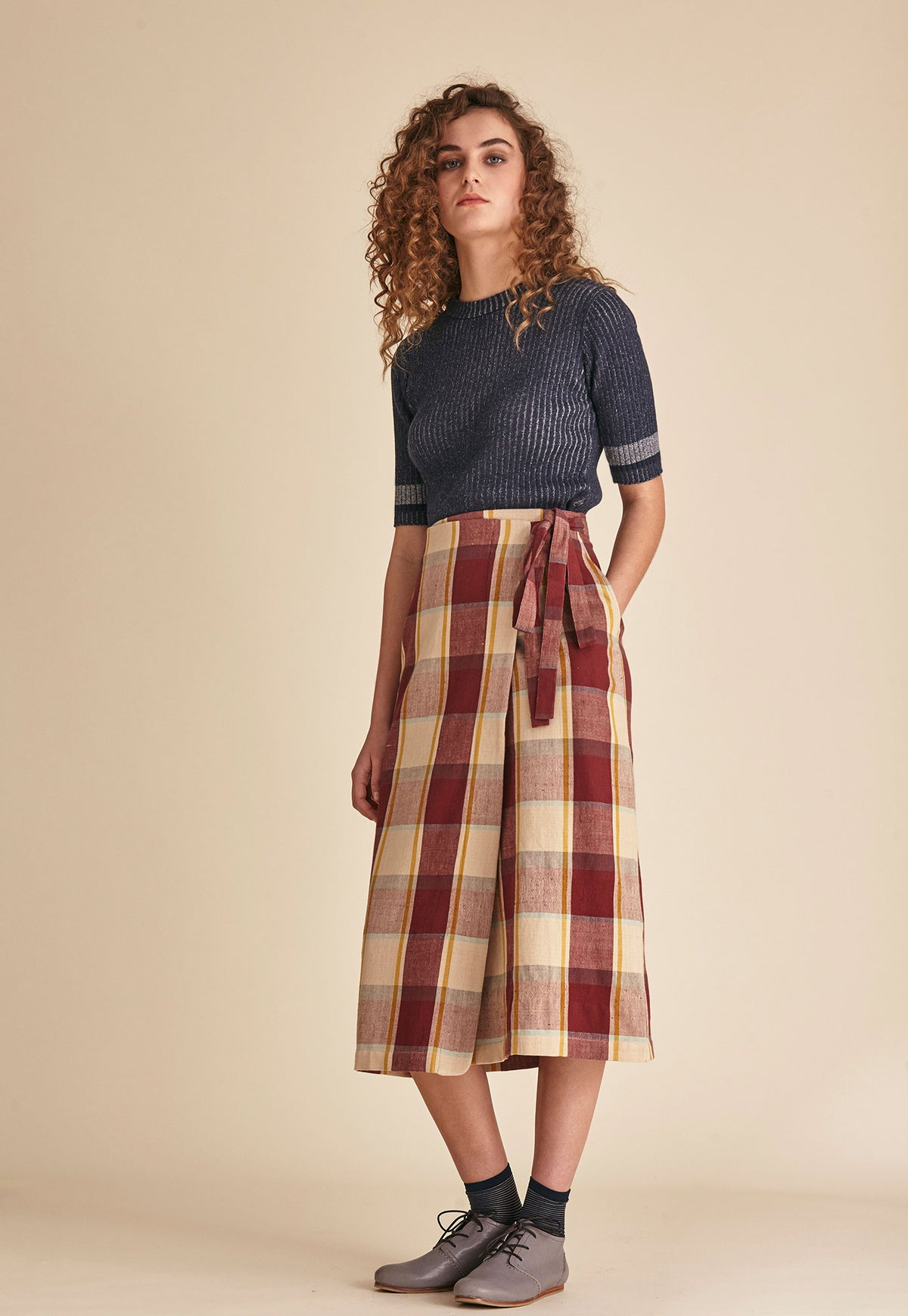 Wrap Skirt - Russet Check