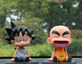 Dragon Ball Krillin & Goku Bobble Head Collectible PVC Action Figure Toys