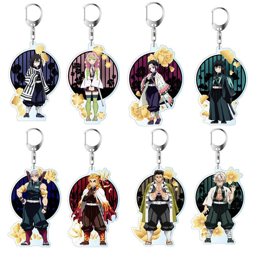 Anime Demon Slayer Collectible Double Sided Acrylic Keychains