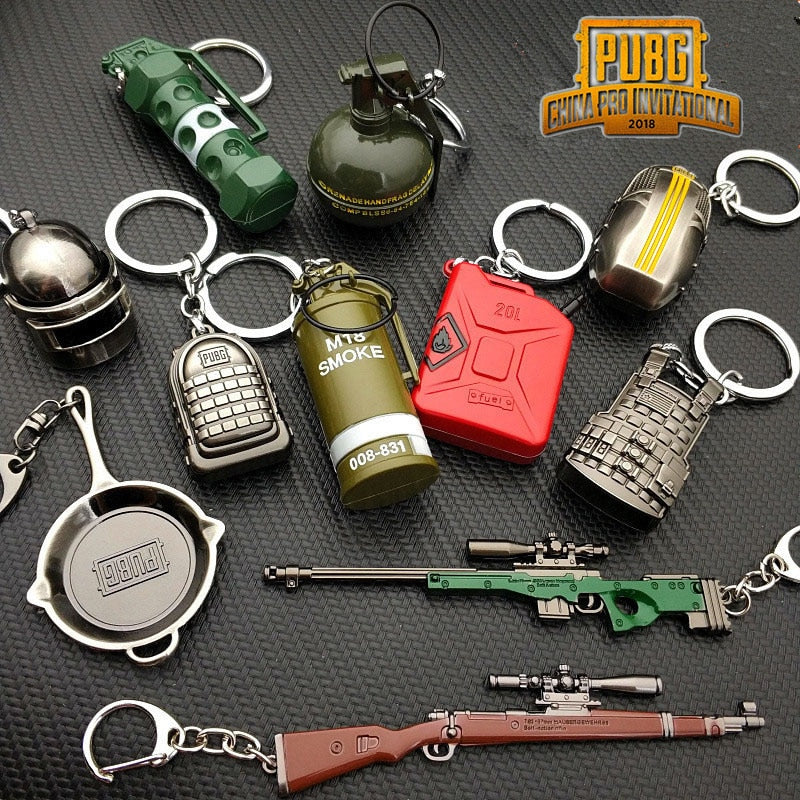 PlayerUnknown's Battlegrounds Collectible Iconic Design Keychains