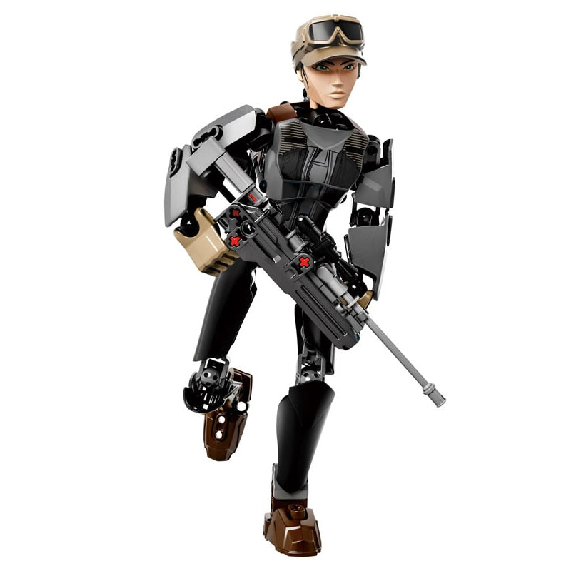 Star Wars Buildable Figure Collectible Character Action Figures Toy Gifts For Kids