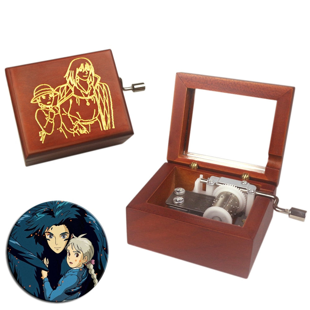 Howl's Moving Castle - Merry Go Round Of Life Theme Hand Crank Music Chest (Style 1)