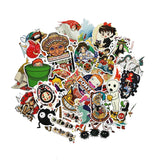 Collectible Studio Ghibli Animation Cute Stationery Character  Stickers For Car, Laptop, Notebook, Luggage and more Cute Memorable Gifts - 1 set 50 stickers