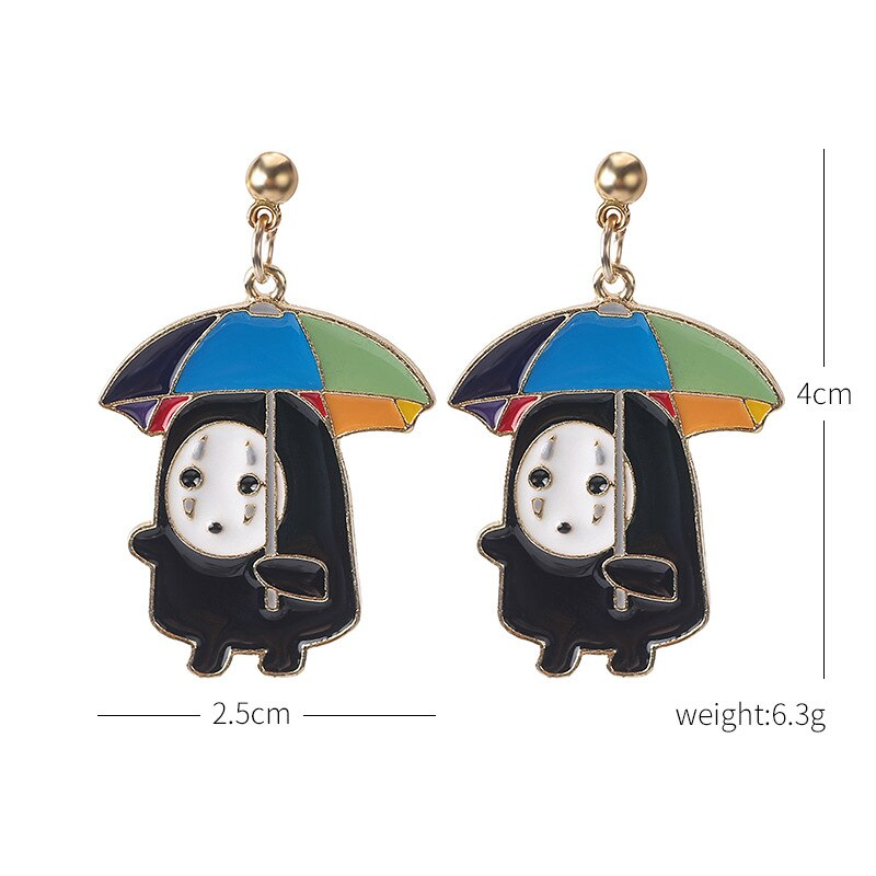 Studio Ghibli's Anime Spirited Away Ghost Earrings Fashionable & Creative Personality Stud Earrings for Jewelry Gifts