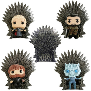 Game of Thrones PVC Action Figure Toy  Gifts - Jon Snow, Tyrion Lannister Daenerys Targaryen & Night King with Iron Throne