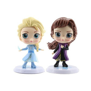 Disney's Frozen 2 Collectible Action Figures PVC Model Dolls Perfect Gift for Kids - Elsa, Anna, Olaf & Bruni the Salamander