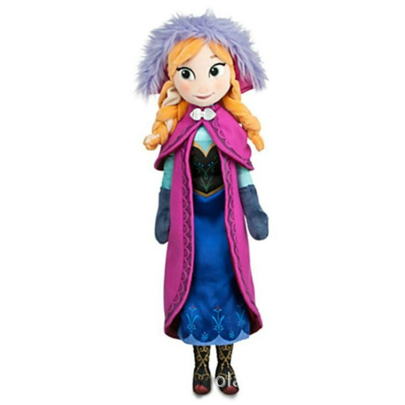 Stuffed Frozen Plush Anna Elsa Kids Doll Toys Perfect for Birthday and Christmas Gift