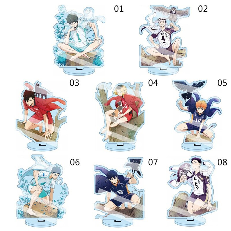 Anime Haikyuu Figures Desk Plate Acrylic Stand Model Collection (13cm)