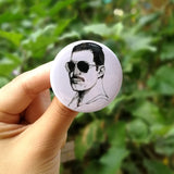 The Queen  Freddie Mercury  Metal Badges