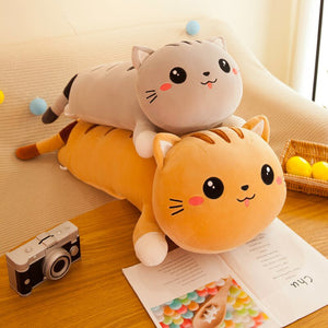 Adorable Cat Pillow Plush Toy - Soft Stuffed Plush Animal Toy Gift