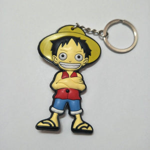 One Piece  Anime Collectible Prop Accessory Key Ring - Double Sided with Fun Characters