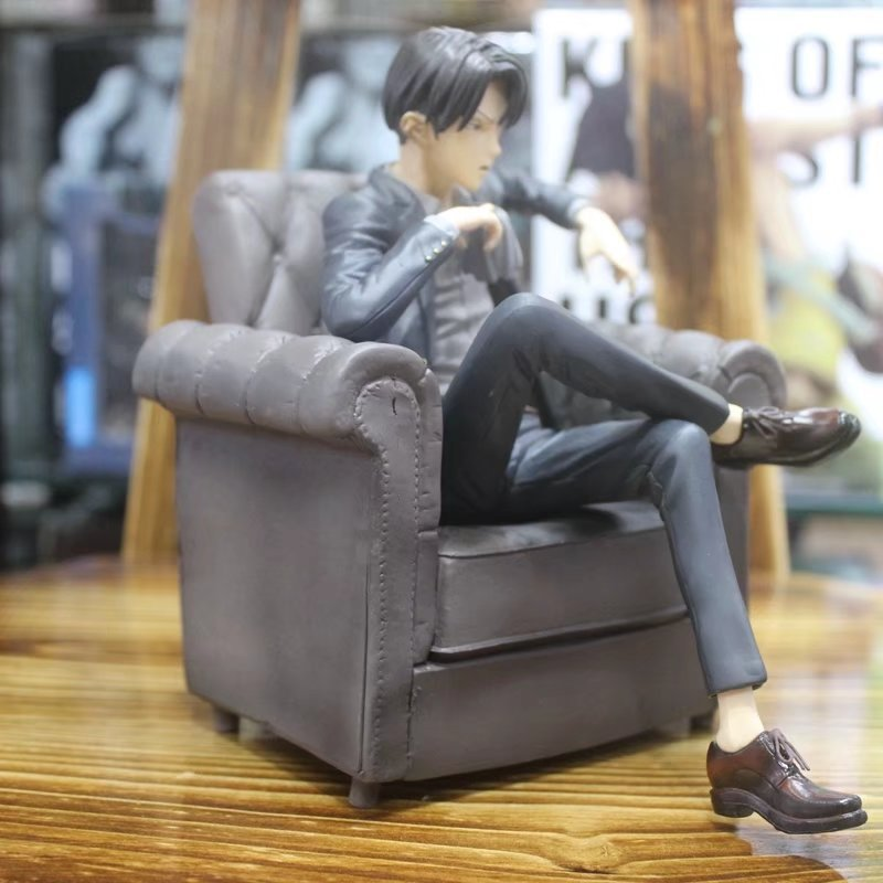 Thrilling Anime Attack on Titan Levi Ackerman Collectible PVC Figure Toy Model