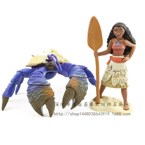 Disney's Moana Characters Collectible Figure Toy Bundle Gift for Kids