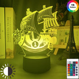 ONE PIECE's Thousand Sunny Ship LED Night Light for Bedroom Decor