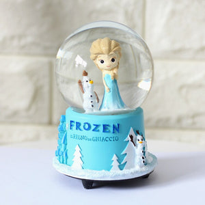 Disney's Frozen Snow Globe Music Box with Automatic Snowflake Carousel Large Crystal Ball Birthday Gift Home Décor