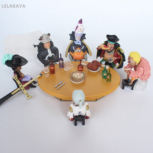 Tsuru and the Five Shichibukai Collectible One Piece PVC Action Figure Bundle