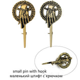 Game Thrones Brooch Pin - Hand of the King Inspired Authentic Badge Jewelry