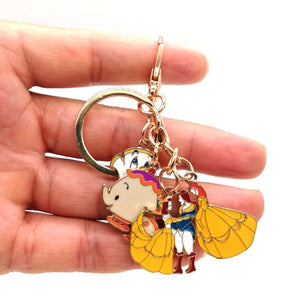 Disney Beauty and the Beast Key Chain Keychain Princess Gift