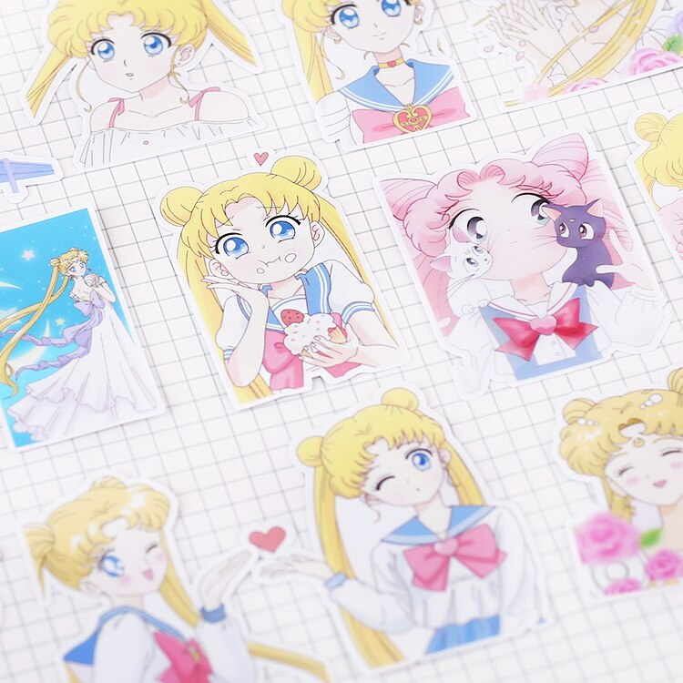 Twenty One Pieces Of Sailor Moon Stickers For  Scrapbooks & DIY Craft Photo Albums