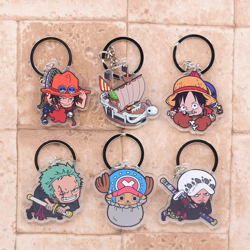 Popular Anime One Piece Cute Collectible Acrylic Keychains