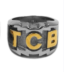TCB Elvis Presley Biker Ring Stainless Steel Jewelry