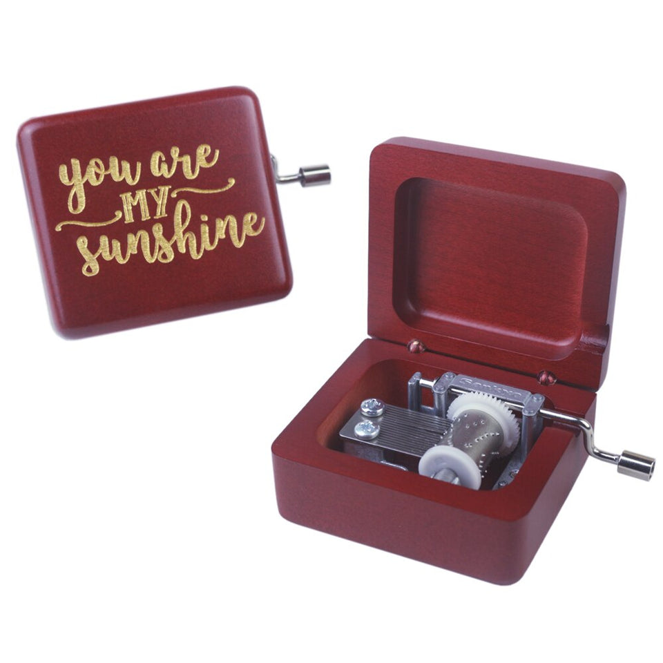 Jimmie Davis - You Are My Sunshine - Hand Crank Music Chest (Wine Red)