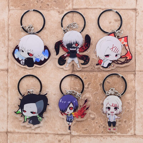 Popular Anime Tokyo Ghoul Cute Collectible Acrylic Keychains