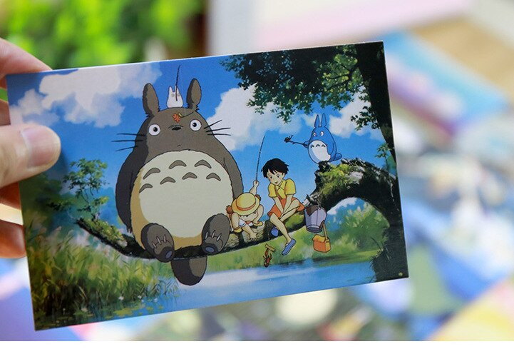 Hayao Miyazaki's Oil Painting Postcards - Popular Studio Ghibli Animes for Warm and Nostalgic Greeting Gifts (30 Sheets per Lot)