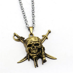 Pirates of the Caribbean Fashionable Link Chain Necklaces Friendship Gift Jewelry Accessories