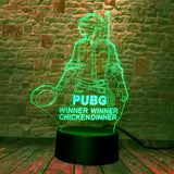 Most Exciting Role Playing Game PUBG 3D Illusion LED Night Light Bedroom Decor
