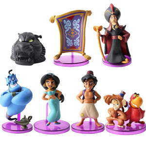 Walt Disney Movie Aladdin Collectible Figure Toy Bundle (7pcs)