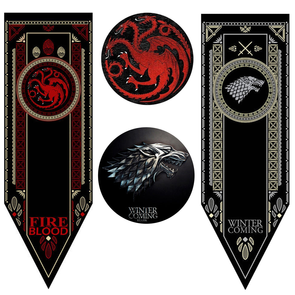 Flag Banner Game Of Thrones Stark & Targaryen & Lannister banner Wall Hanging A Song of Ice and Fire Home Decoration
