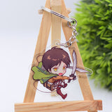 Attack on Titan Cute Character Collectible Acrylic Keychains 1st Set