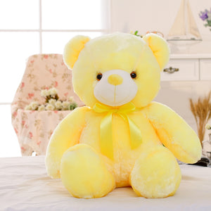 Teddy Bear 45CM Plush Toy  Creative LED  Light Colorful Glowing Christmas Gift for Kids