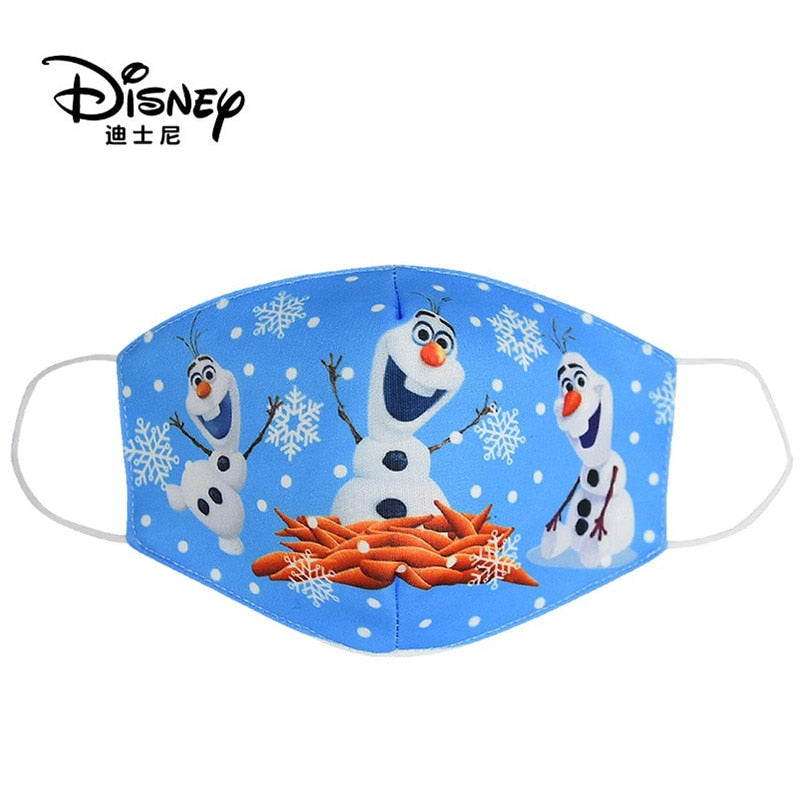 Disney Frozen  Washable Cotton Face Masks for Children Anti-Dust Protective Masks for Boys & Girls