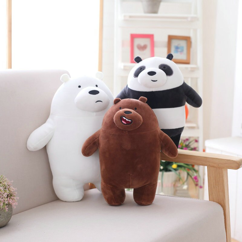 Cartoon Network's Cute We Bare Bears Collectible Plush Toy Gift for Kids   (10cm-50cm)