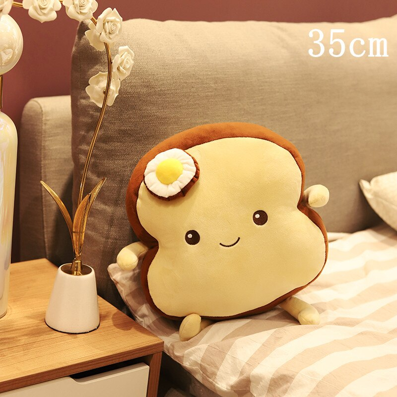 Creative Poached Egg Bread Toast Plush Pillows And Cushion Kids Toy Birthday Gift