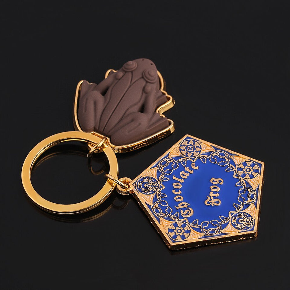 Harry Potter's Iconic Chocolate Frog Keychain Gold - Collectible Surprise Gift for Fans & Kids