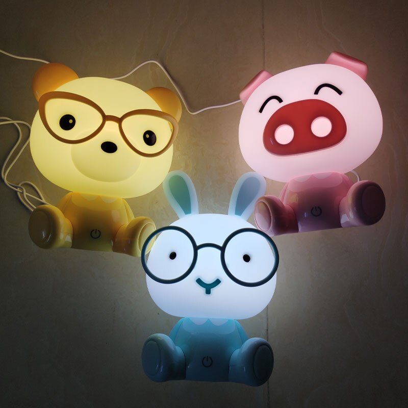 Adorable Glowing Animal Night Lamps - Cute Surprise Gift for Home Decor